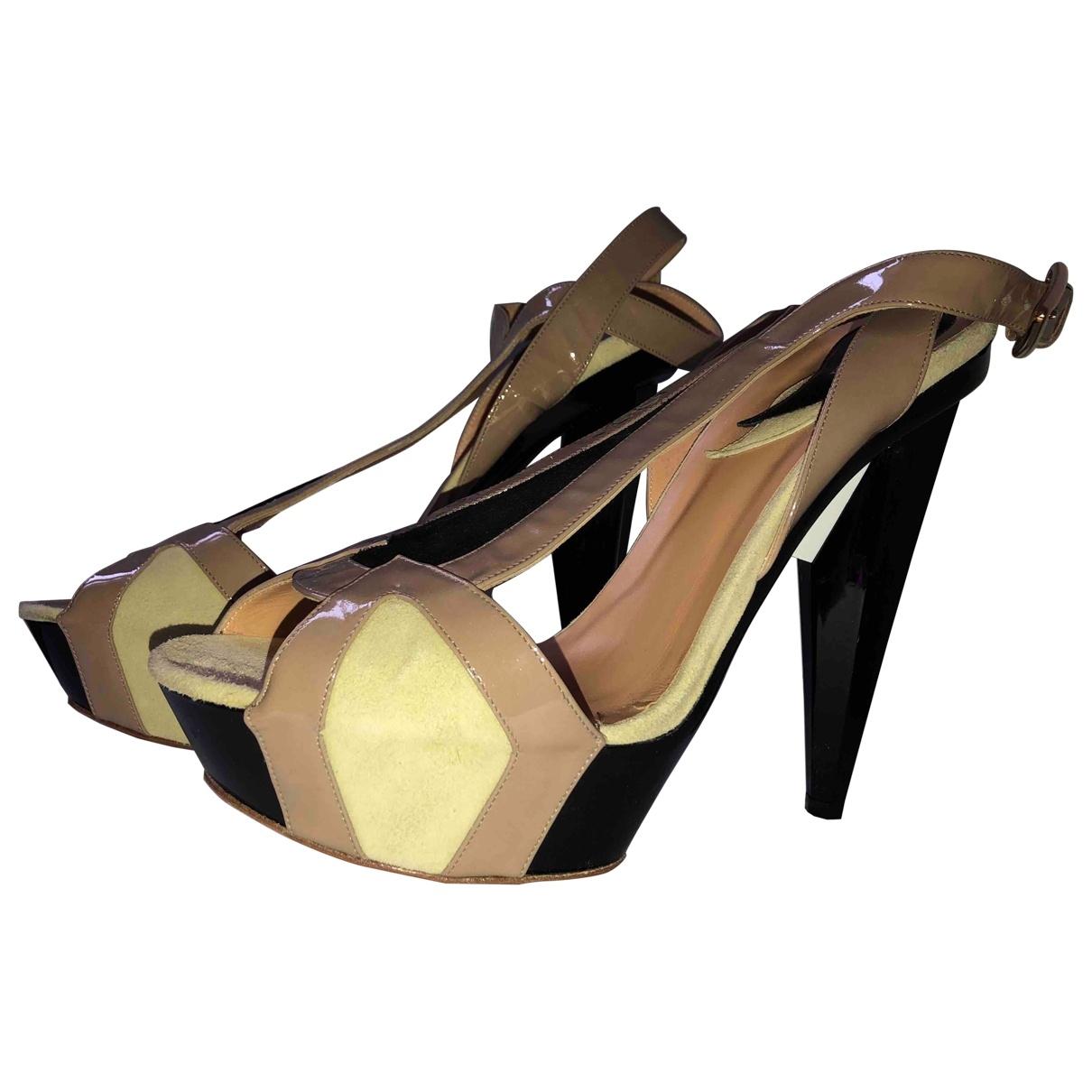 Etro - Sandales   pour femme en cuir - noir