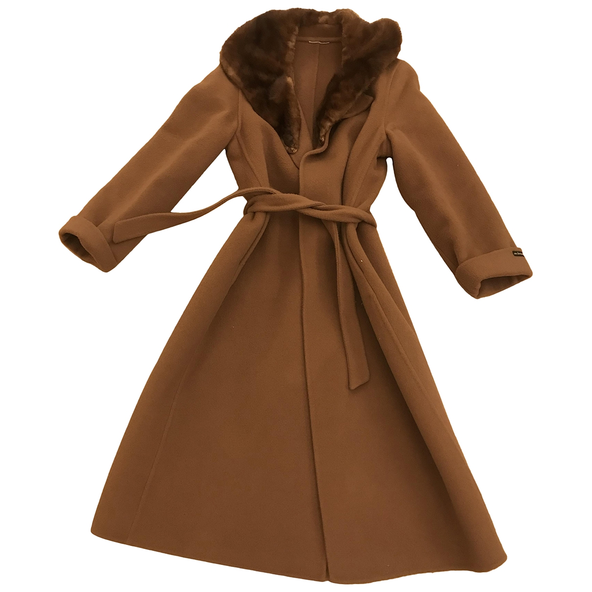 Non Signé / Unsigned \N Camel Wool coat for Women 46 IT
