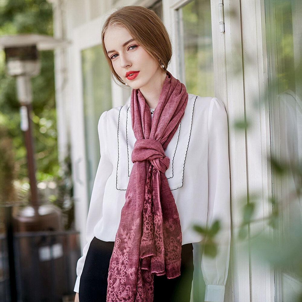 UACY 185cm*85cm LaceCotton Scarves Shawl Casual Travel Shawls Wraps Soft Breathable Scarves