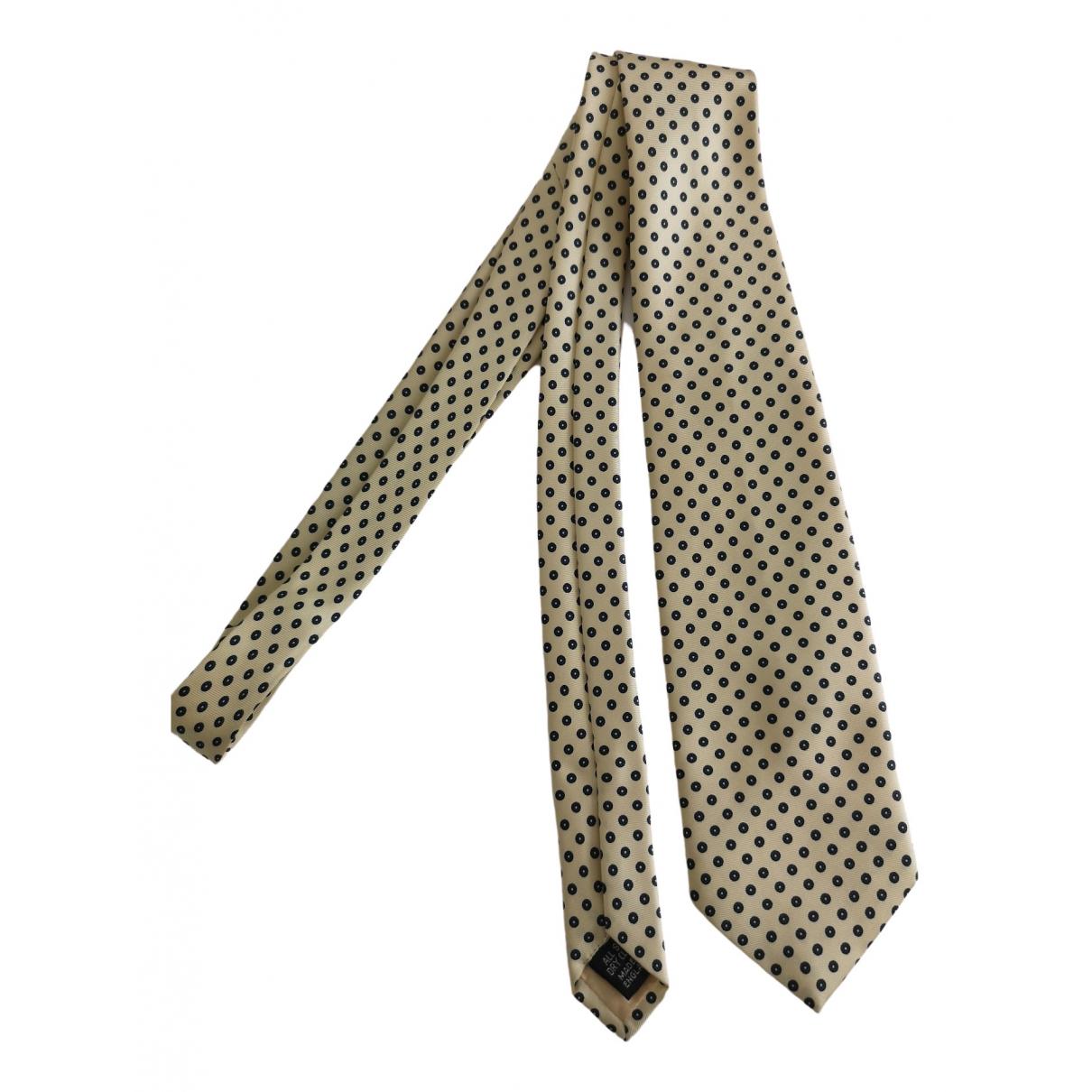 Prada \N Ecru Silk Ties for Men \N