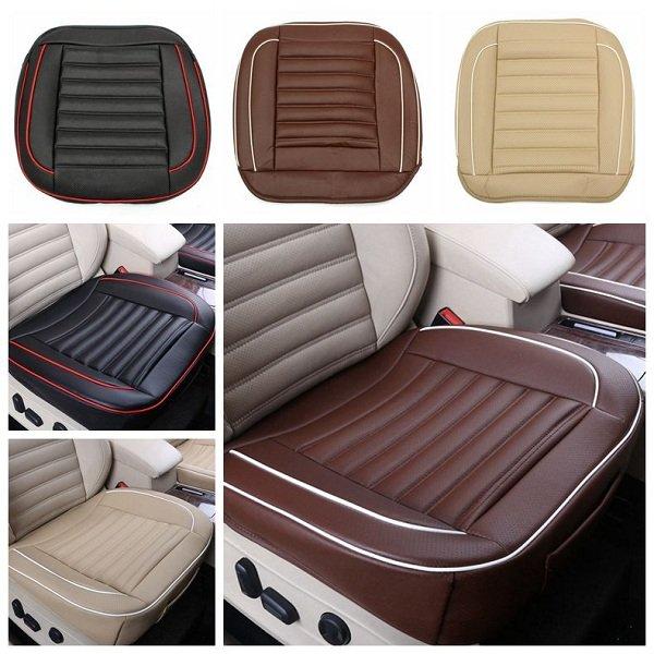 50x50cm PU Leather Car Cushion Seat Chair Cover Black/Beige/Coffee Auto Interior Pad Mat