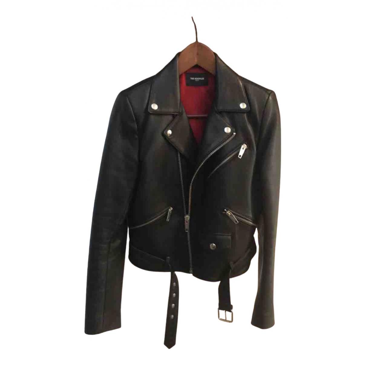 The Kooples N Black Leather Leather jacket for Women 38 FR
