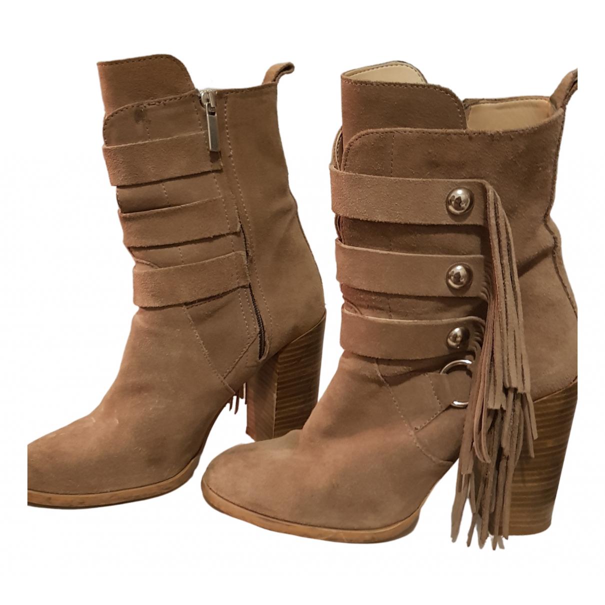 Zara N Beige Leather Ankle boots for Women 38 EU