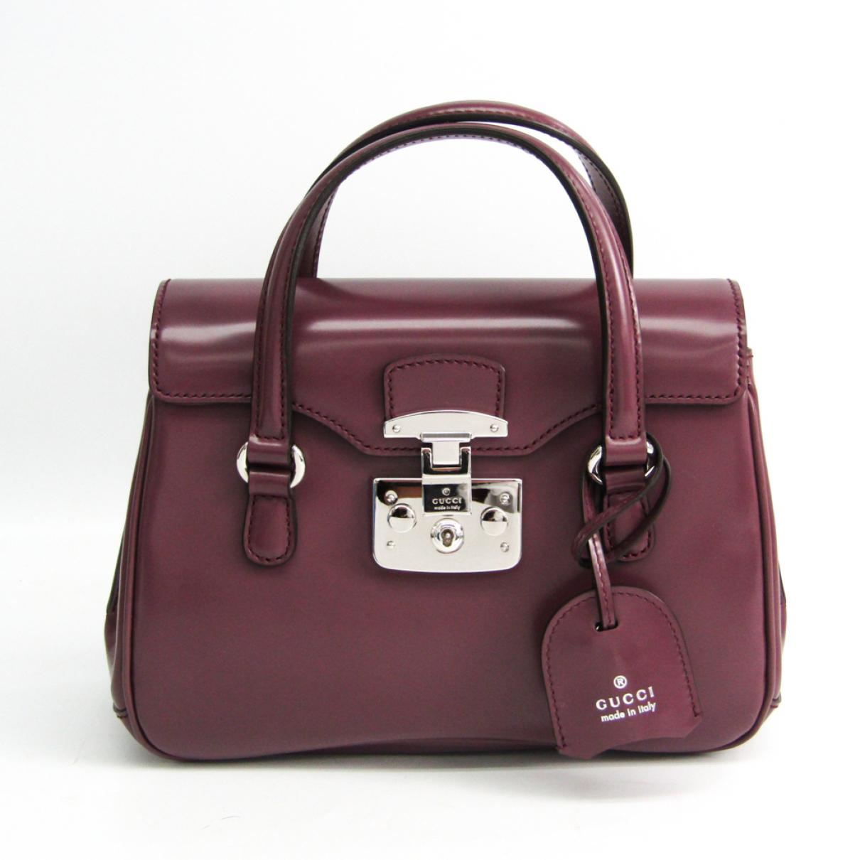 Gucci - Sac a main   pour femme en cuir - violet