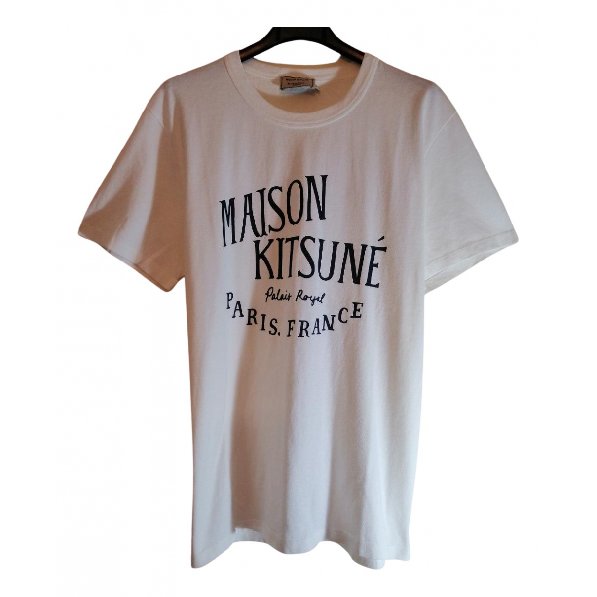 Maison Kitsune \N White Cotton T-shirts for Men S International