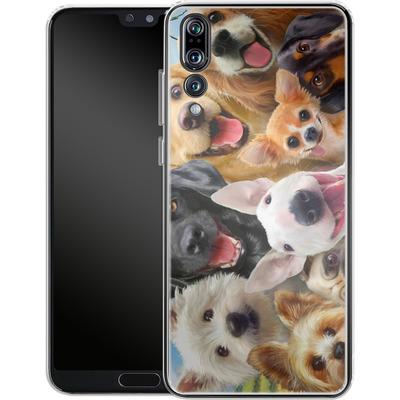 Huawei P20 Pro Silikon Handyhuelle - Dogs Selfie von Howard Robinson