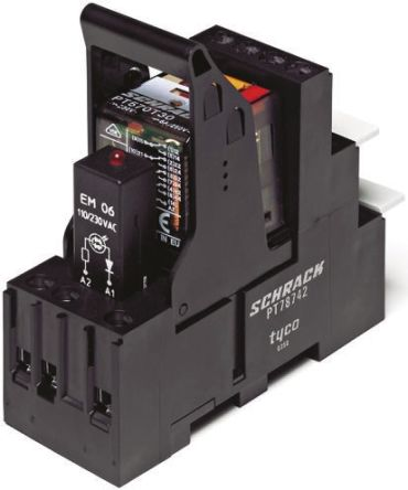TE Connectivity , 230V ac Coil Non-Latching Relay 4PDT, 6A Switching Current DIN Rail, 4 Pole