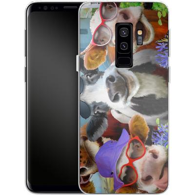 Samsung Galaxy S9 Plus Silikon Handyhuelle - Udderly Cool Selfie von Howard Robinson