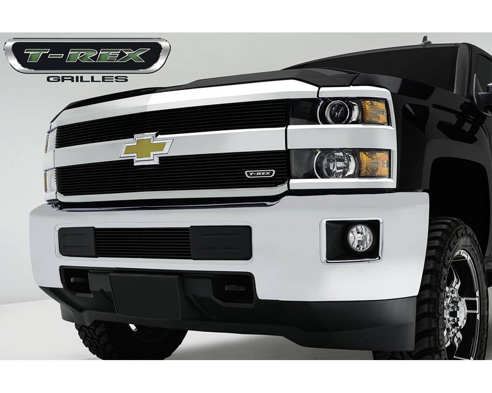 2015-2019 Silverado 2500, 15-17 3500 Billet Grille, Black, 2 Pc, Overlay - PN #21122B
