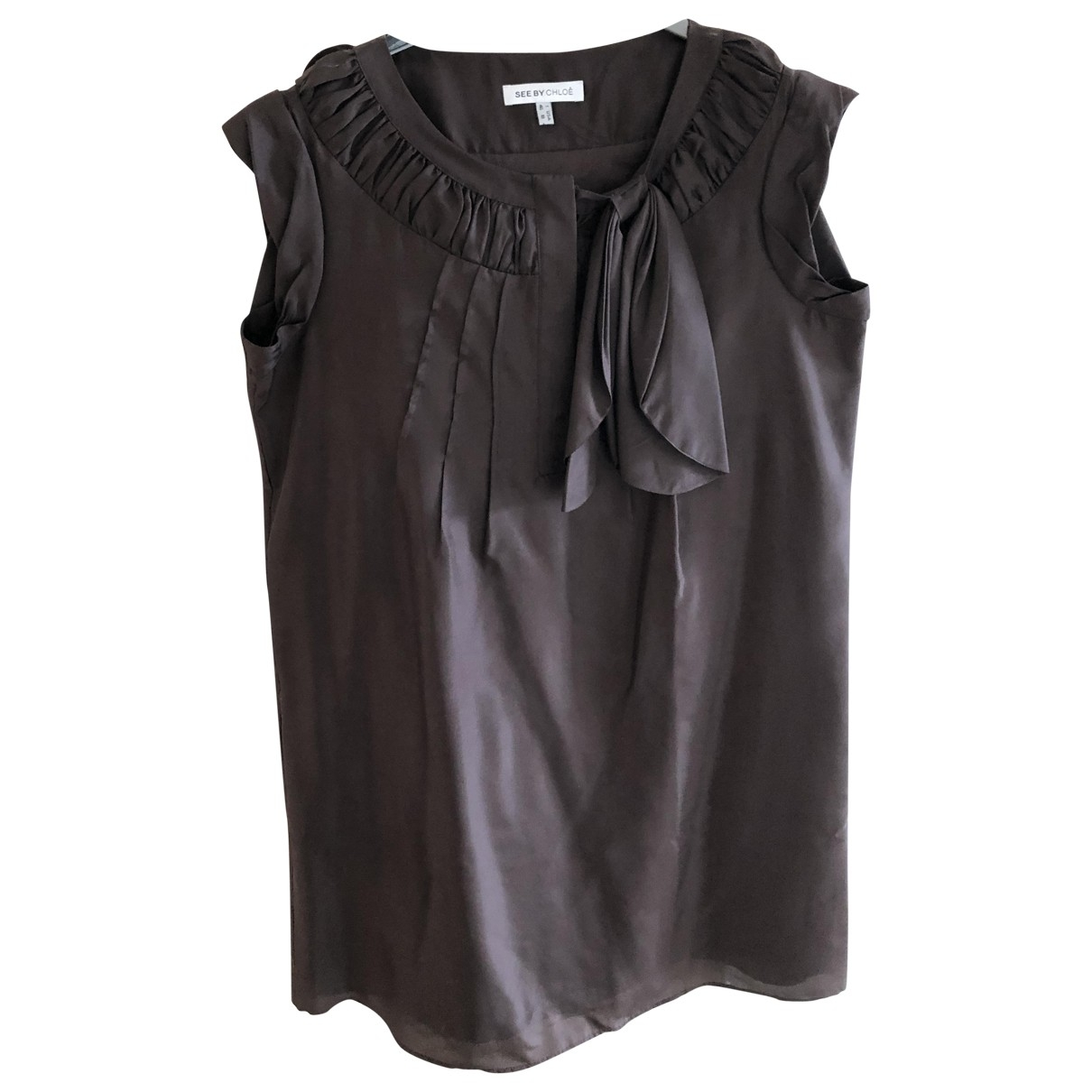 See By Chloé \N Brown Cotton dress for Women 46 IT