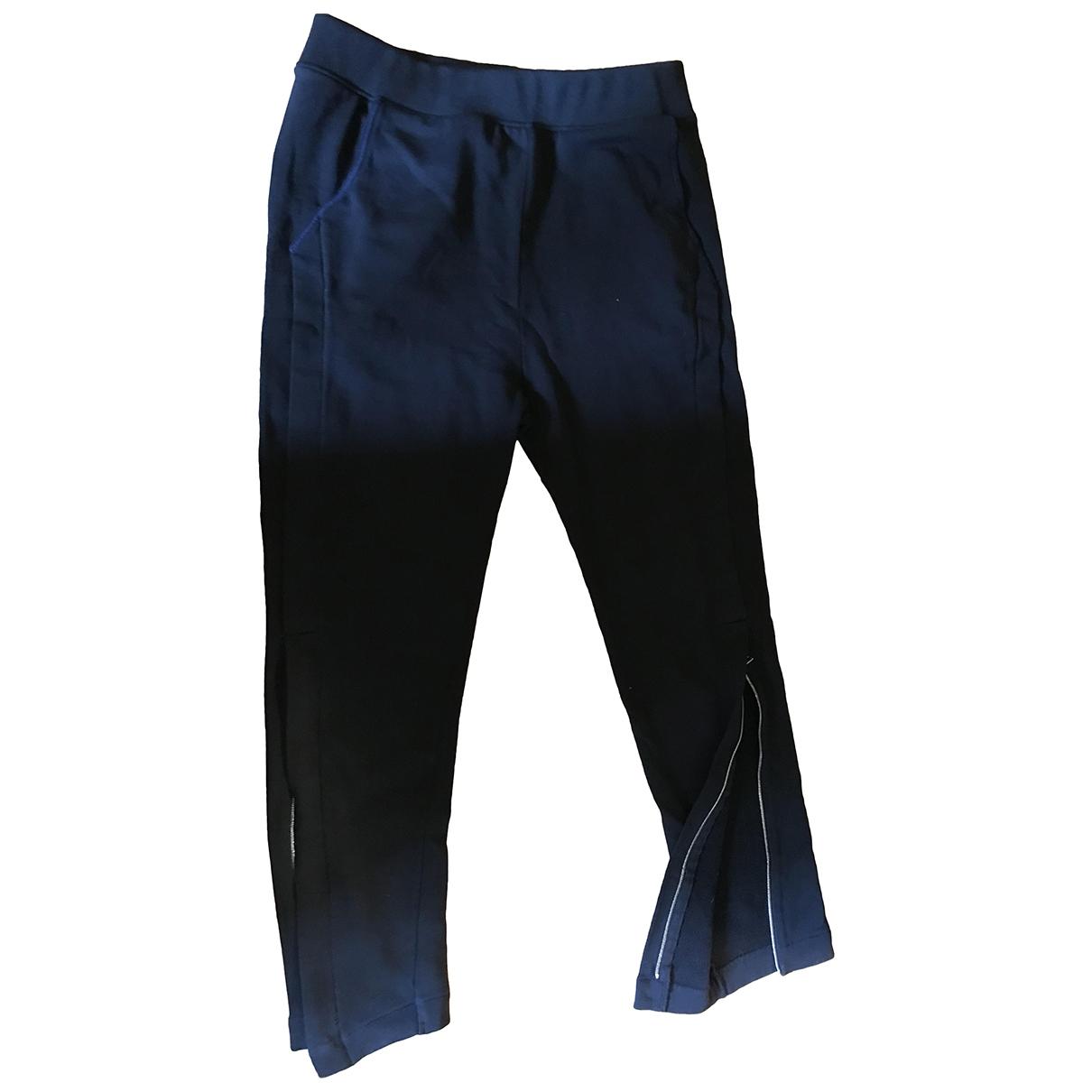 Acne Studios \N Black Cotton Trousers for Women M International