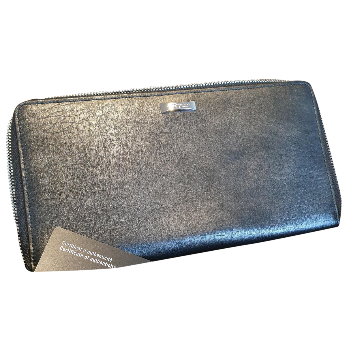 S.t. Dupont N Grey Leather Small bag, wallet & cases for Men N