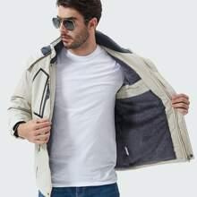 Sports Jacke mit Buchstaben Grafik, Reissverschluss vorn und Kordelzug