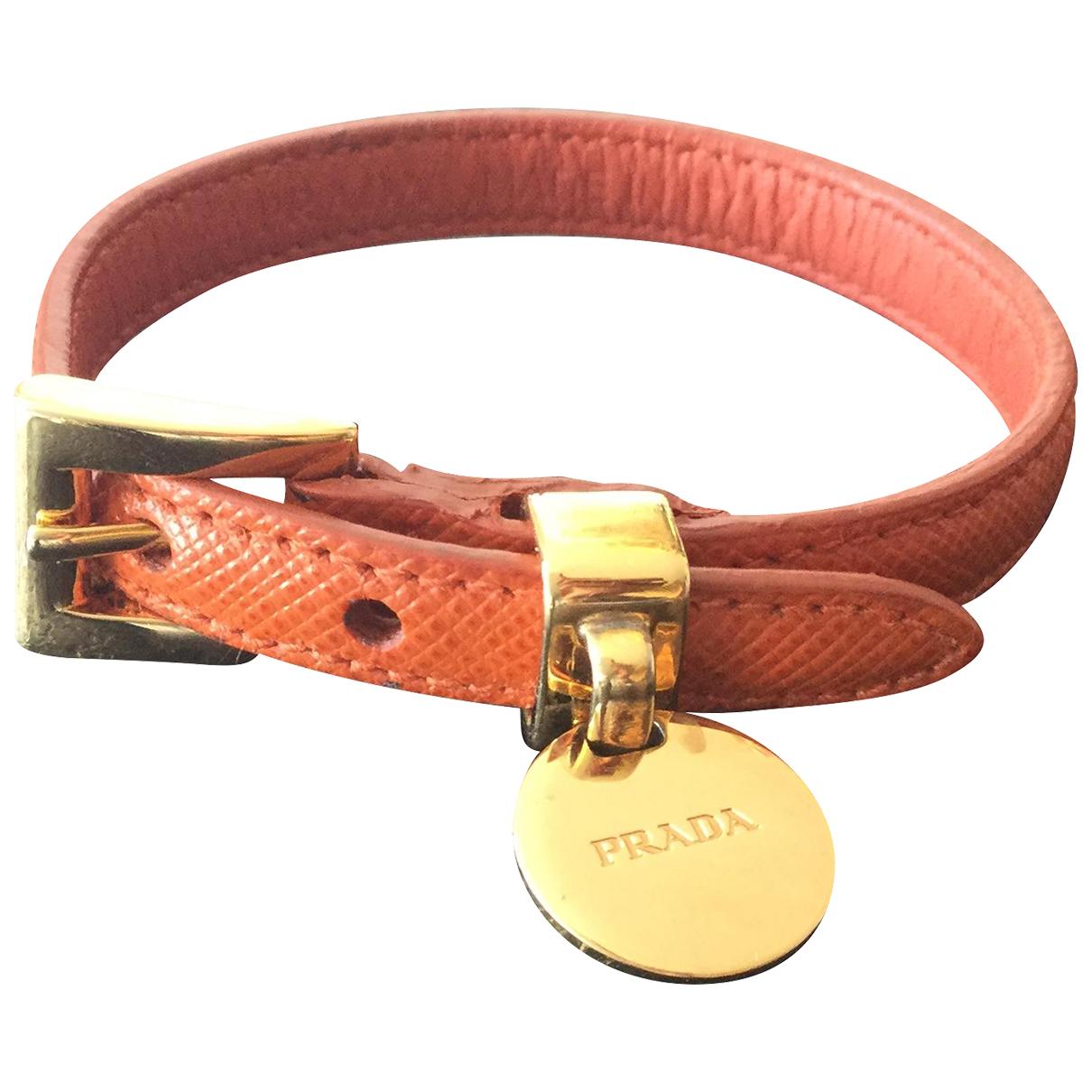 Prada - Bracelet   pour femme en cuir - orange
