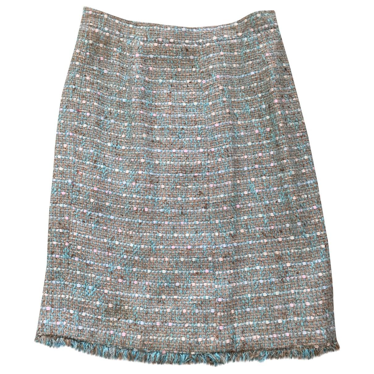 Non Signé / Unsigned \N Blue Wool skirt for Women S International
