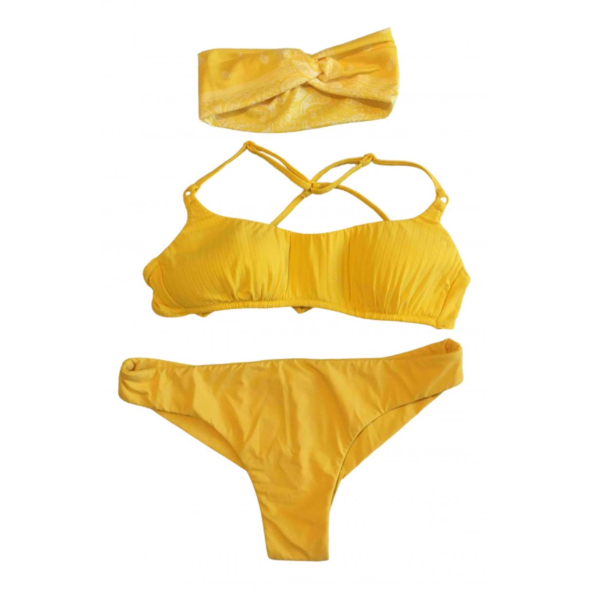 - Bain   pour femme en lycra - jaune
