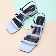 Sandalen mit offener Zehenpartie und Fersenriemen