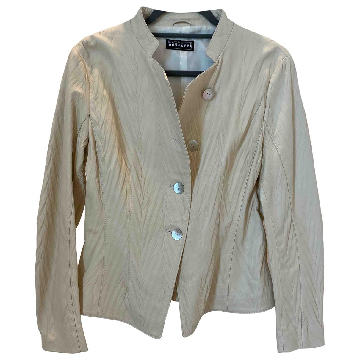 Fratelli Rossetti - Veste   pour femme en cuir - ecru