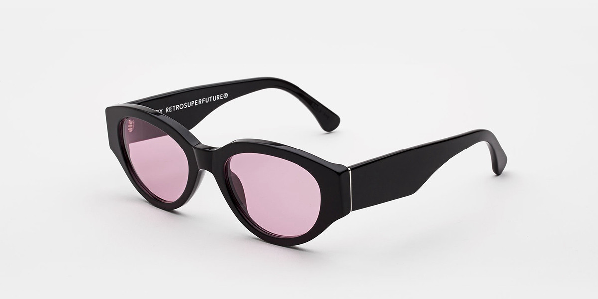 Retrosuperfuture Drew Mama Pink ITG5 OD2 Men's Sunglasses Black Size 53