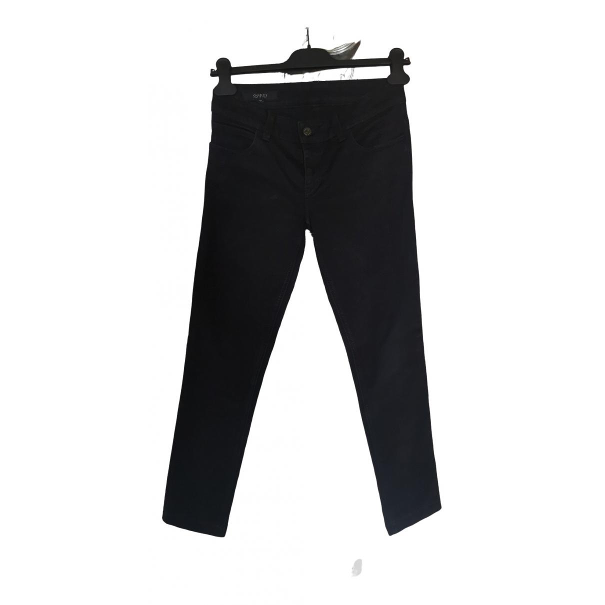 Gucci \N Black Denim - Jeans Trousers for Women 38 IT
