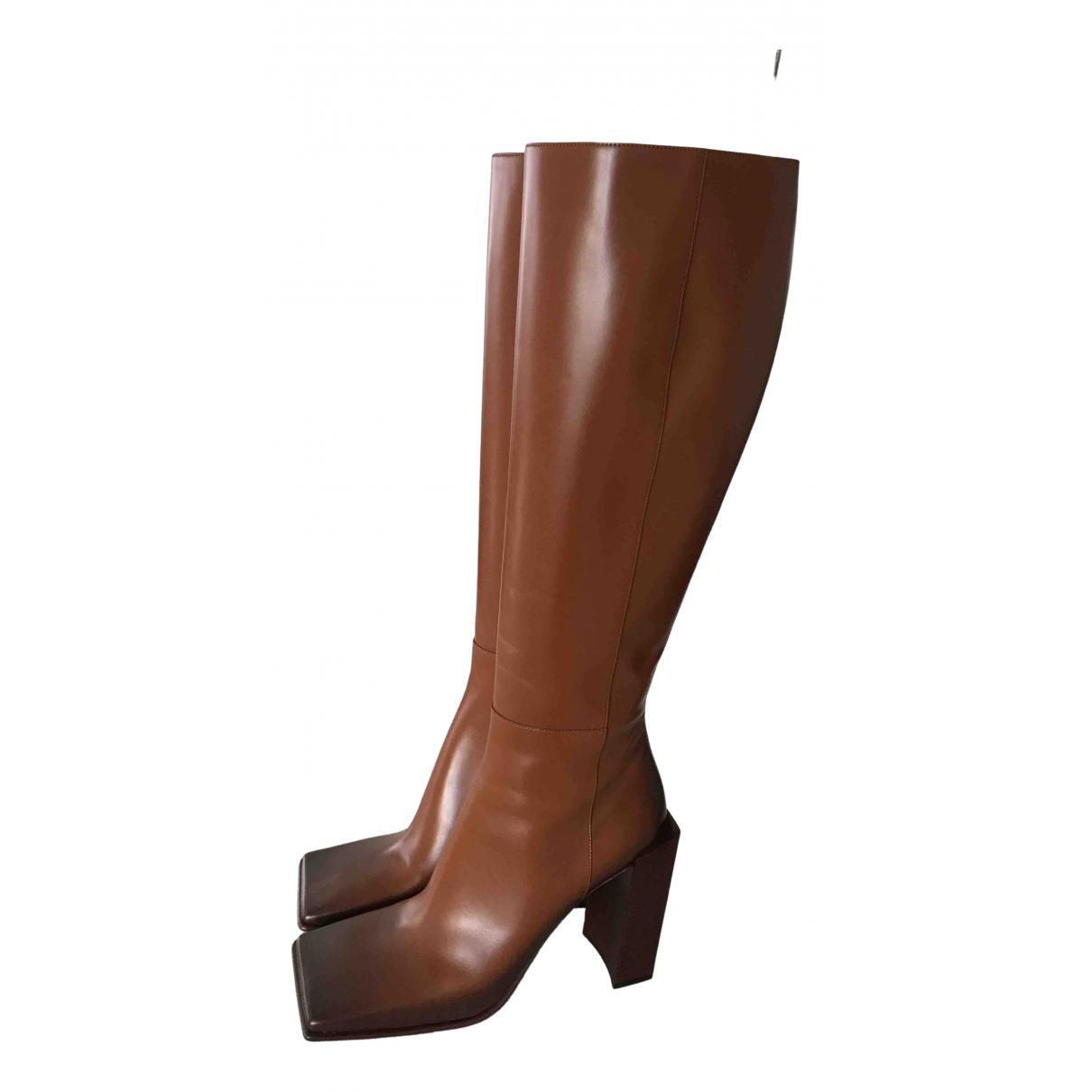 Balenciaga \N Stiefel in  Braun Leder