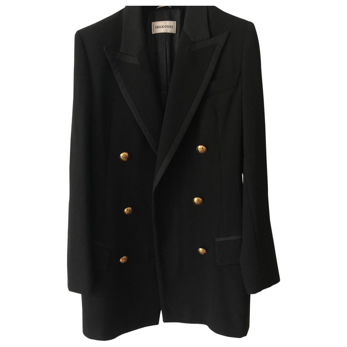 Emilio Pucci \N Black Wool jacket for Women 36 FR