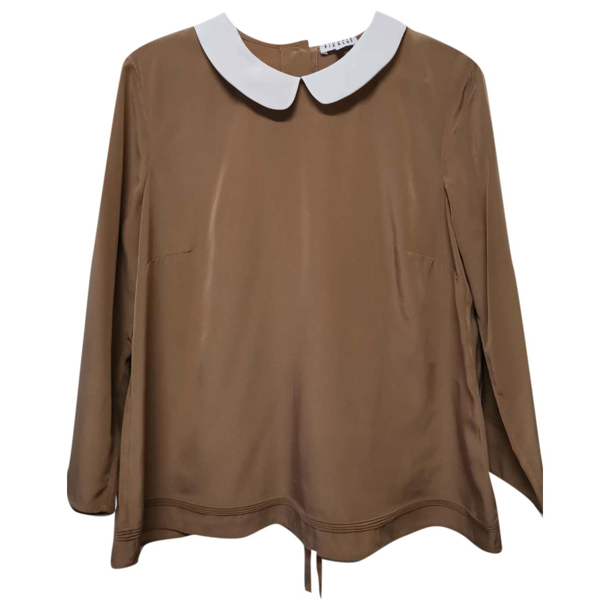 Claudie Pierlot - Top   pour femme - camel