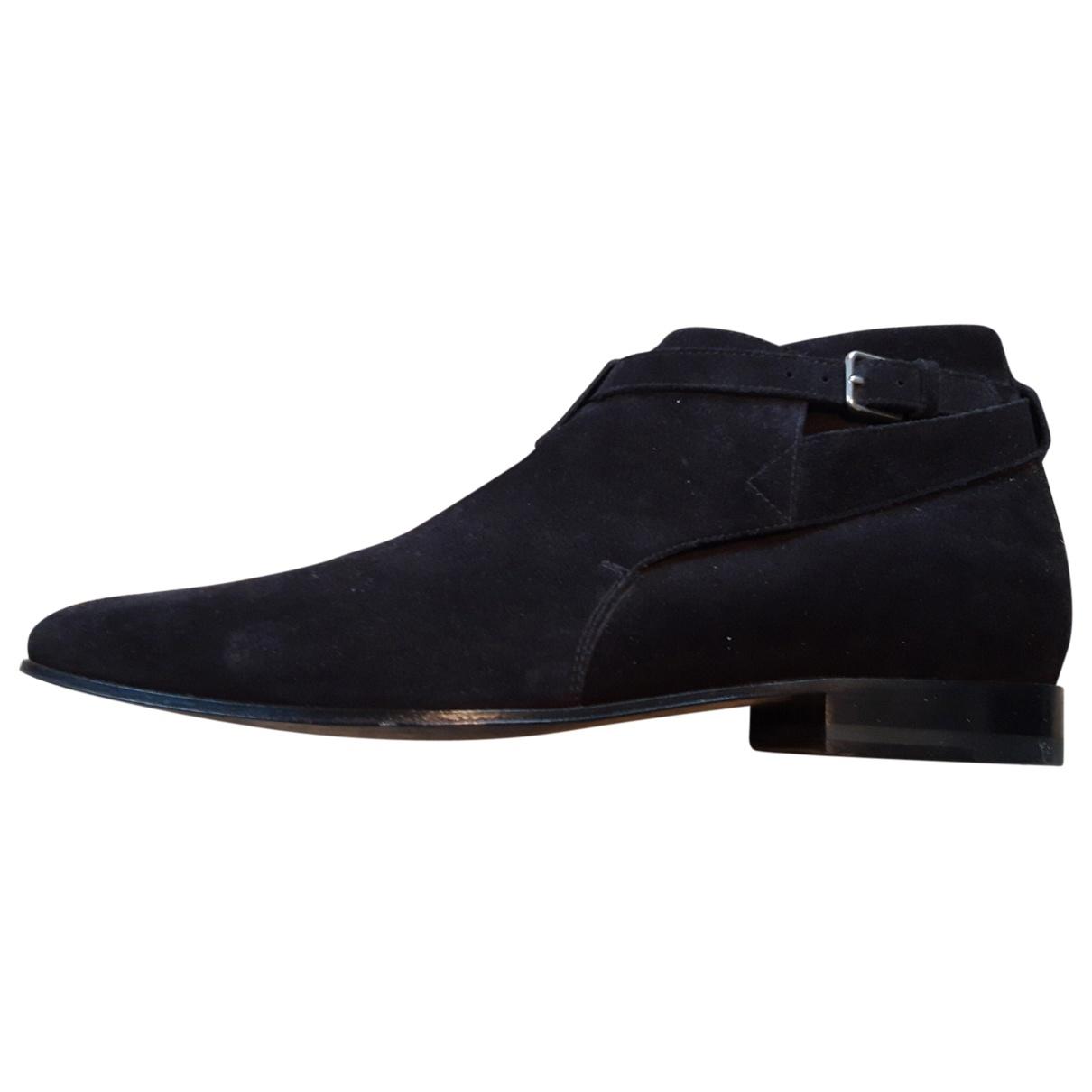 Saint Laurent - Bottes.Boots   pour homme en suede - noir