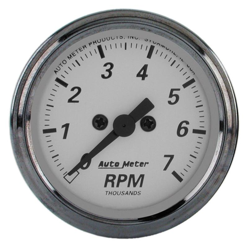AutoMeter GAUGE; TACHOMETER; 2 1/16in.; 7K RPM; IN-DASH; AMERICAN PLATINUM