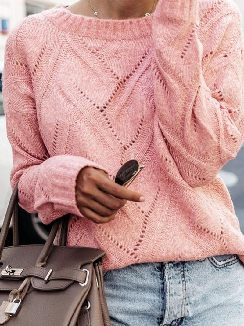 Ericdress Regular Plain Mid-Length Fall Sweater