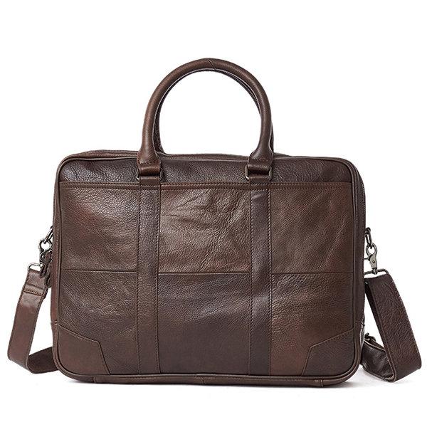 Genuine Leather Business Laptop Bag Briefcase Crossbody Bag