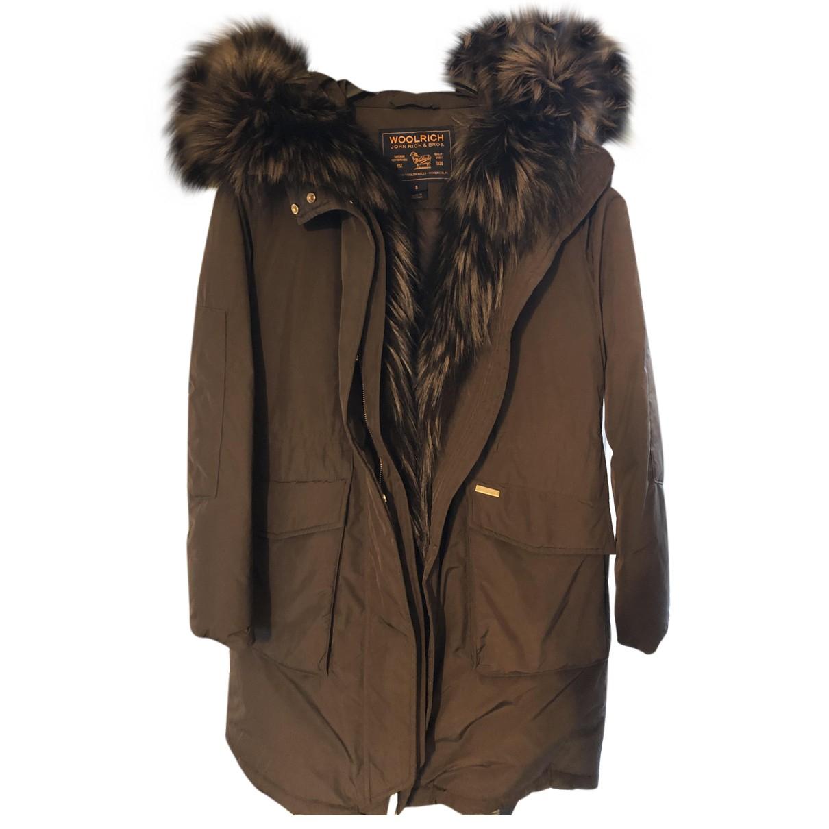 Woolrich - Manteau   pour femme - marron