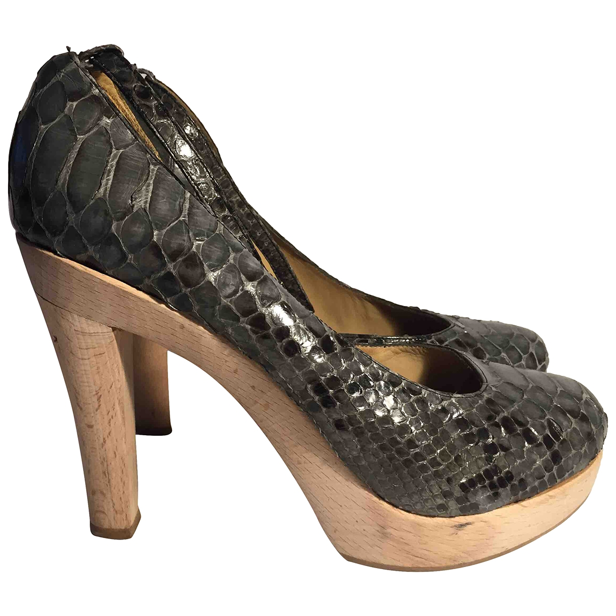 Lanvin - Escarpins   pour femme en cuir - gris
