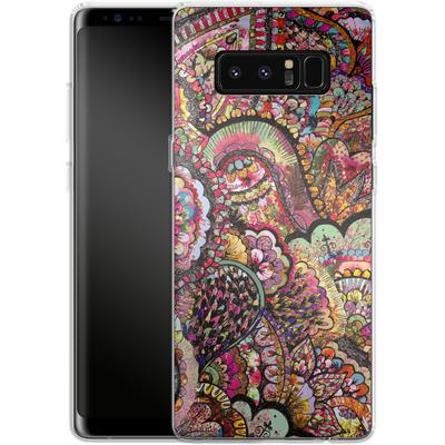 Samsung Galaxy Note 8 Silikon Handyhuelle - Her Hair Les Fleur von Bianca Green