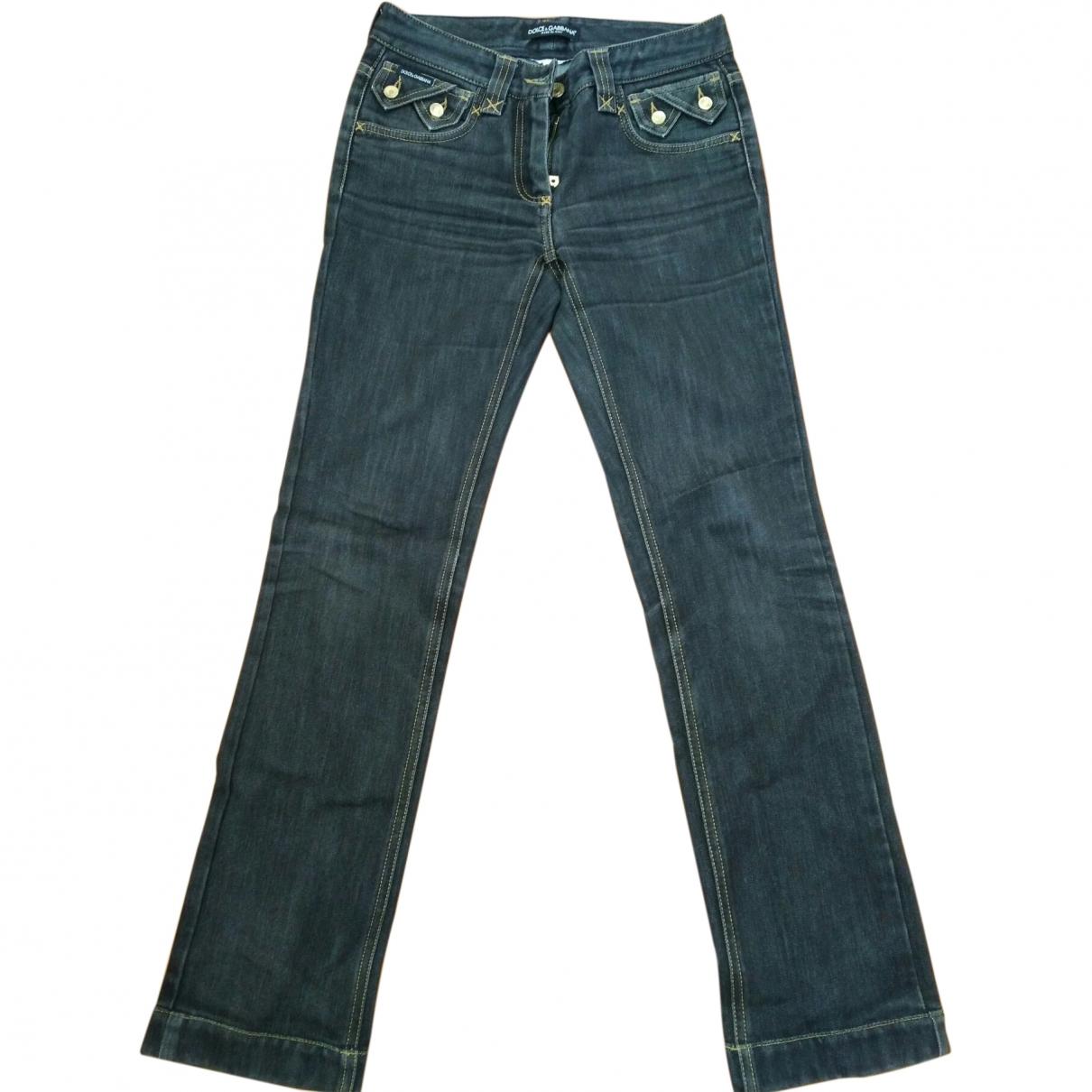 Dolce & Gabbana \N Black Denim - Jeans Jeans for Women 38 FR