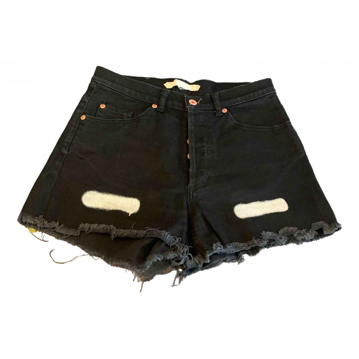 Off-white \N Black Cotton Shorts for Women M International