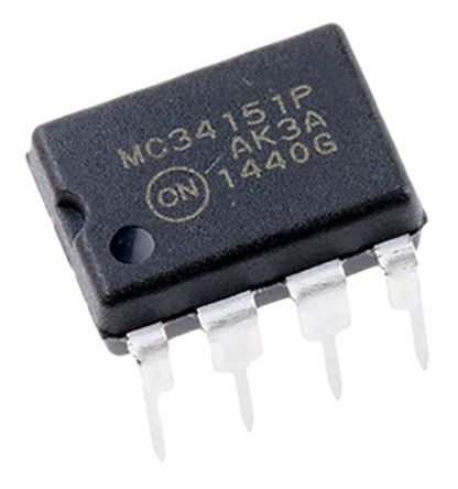 ON Semiconductor MC34151PG Dual High and Low Side MOSFET Power Driver, 1.5A 8-Pin, PDIP
