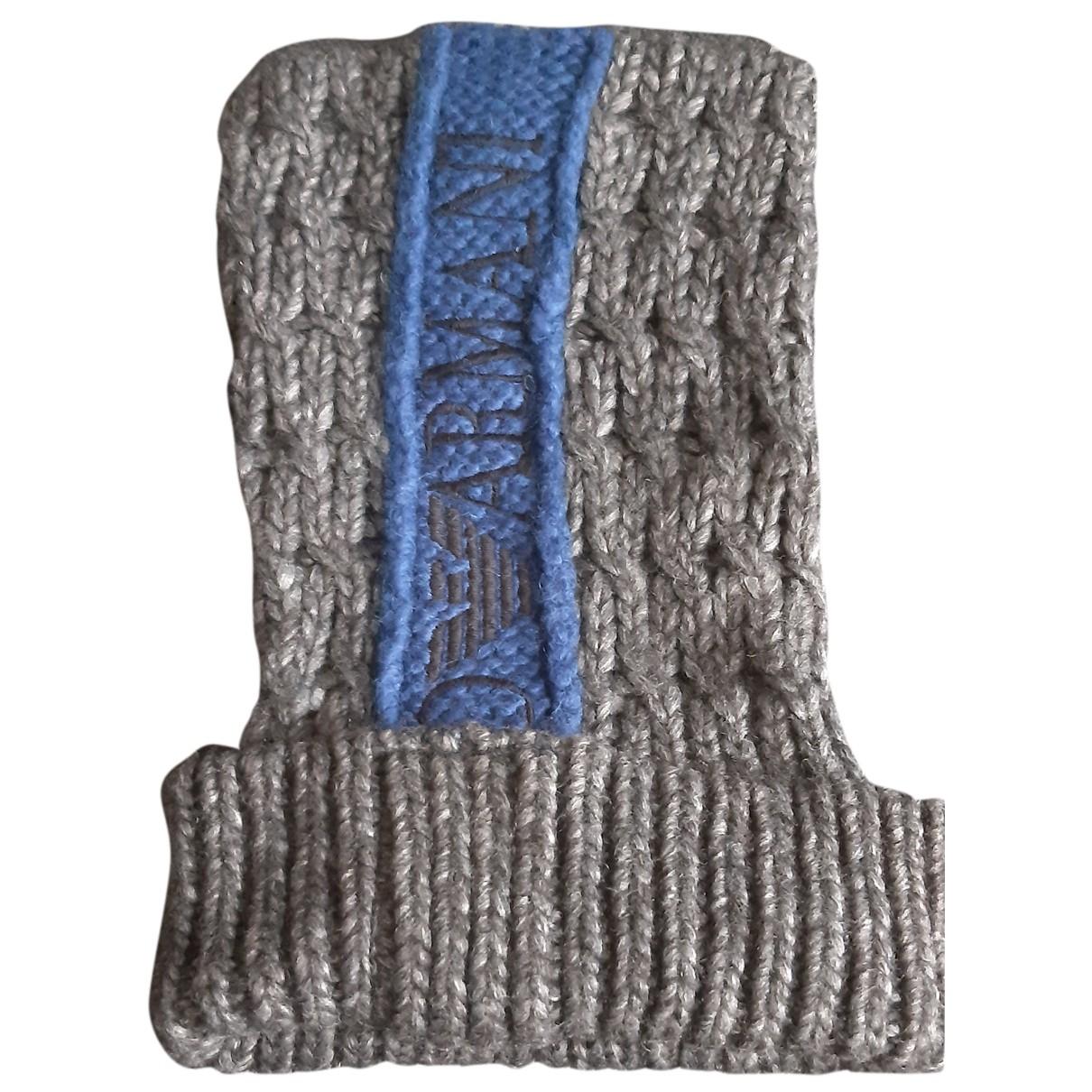 Emporio Armani \N Hut, Muetzen in  Grau Wolle