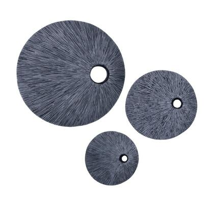SGS-3123 Sandstone ribbed round wall decor..top hole 20 x 20 x