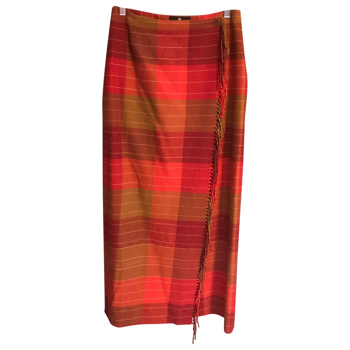 Etro \N Red Wool skirt for Women 42 IT