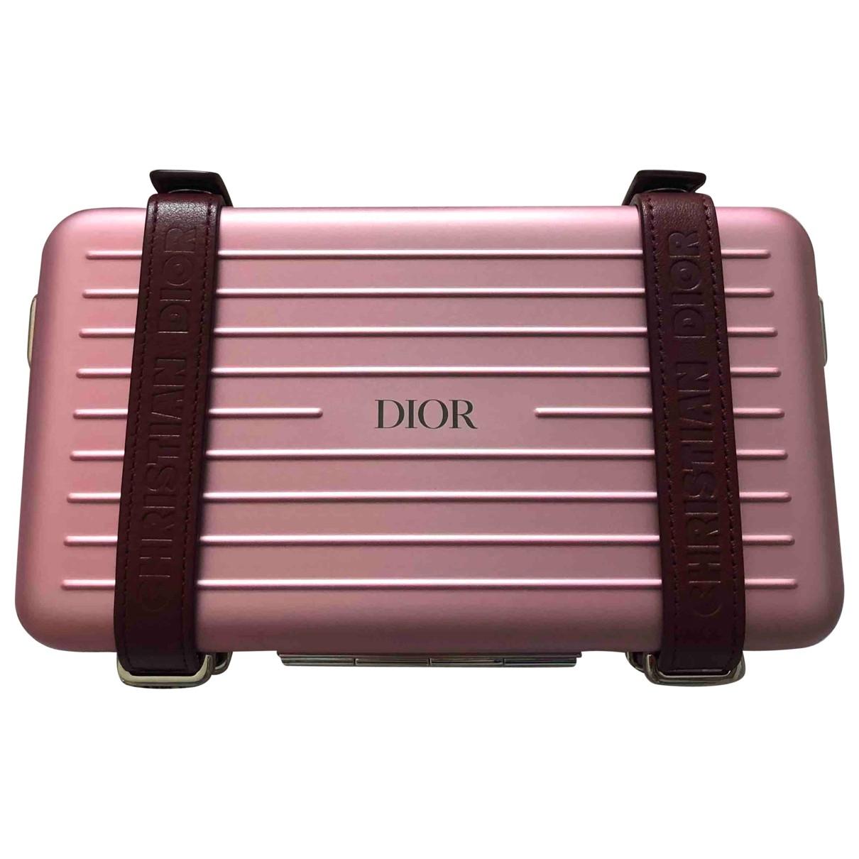Bolsos clutch en Metal Rosa Dior X Rimowa