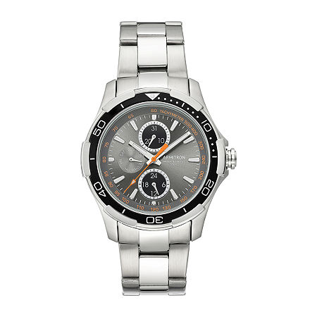 Armitron Mens Silver Tone Stainless Steel Bracelet Watch-20/4677gysv, One Size , No Color Family