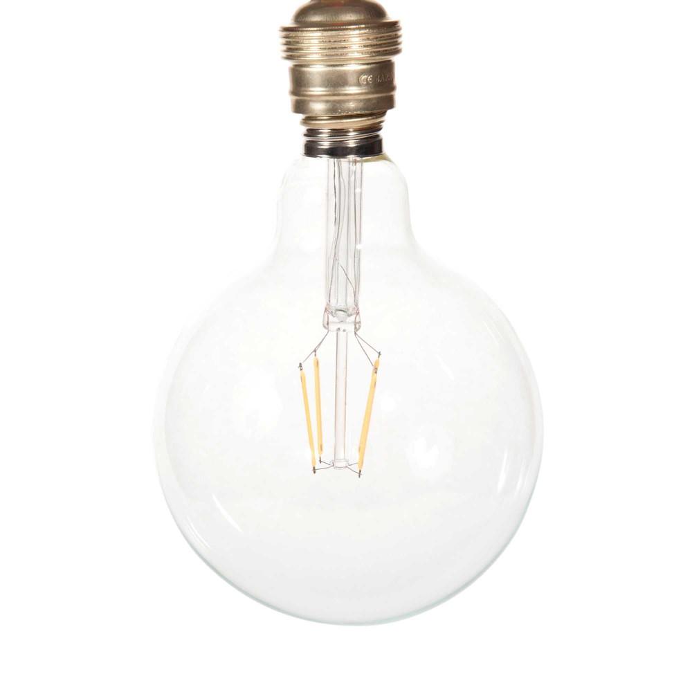 LED-Gluehbirne aus Glas D 13 cm GLOBUS CLEAR