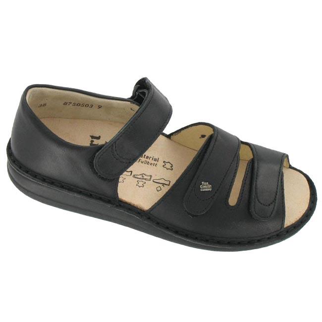 Finn Comfort Baltrum Black Leather 45
