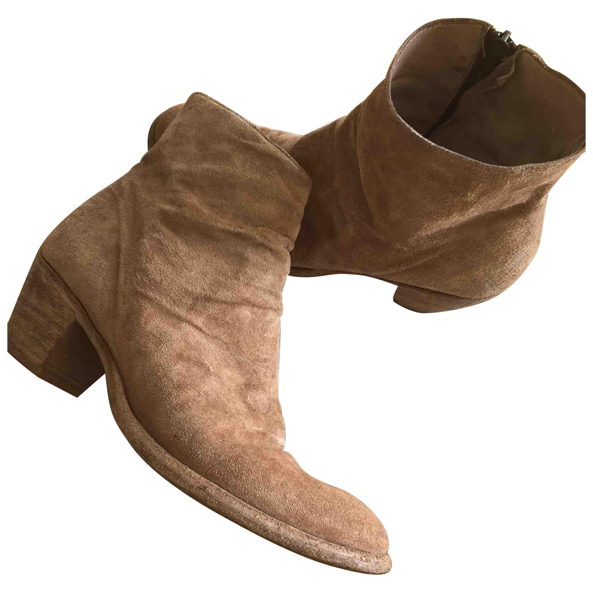 Officine Creative \N Beige Leather Ankle boots for Women 38 EU