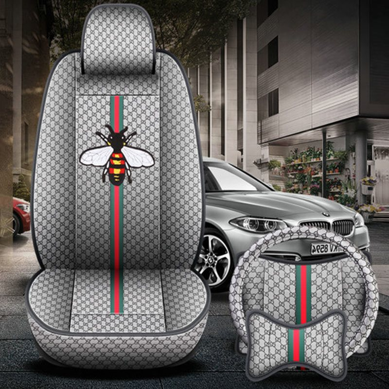 Creative Style Bee Pattern Environmental Health Materials Airbags Are Compatible Lntimate Custom Fit Seat Covers