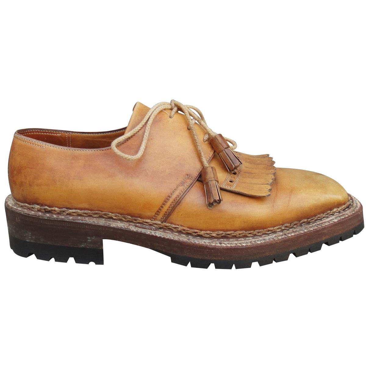 Lanvin - Derbies   pour homme en cuir - marron