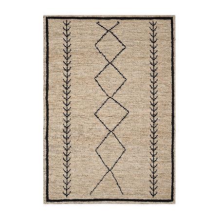 Safavieh Roman Geometric Rectangular Rug, One Size , Black