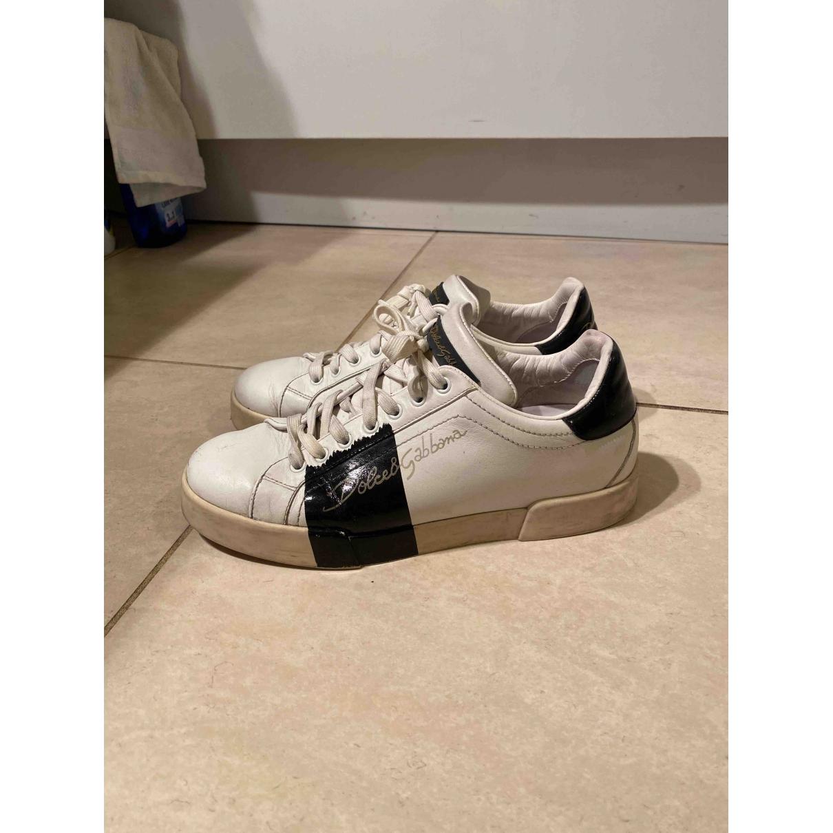 Dolce & Gabbana \N Sneakers in  Weiss Leder