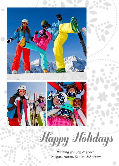 Holiday Photo Cards Mail-for-Me Premium 5x7 Folded Card , Card & Stationery -Happy Holidays